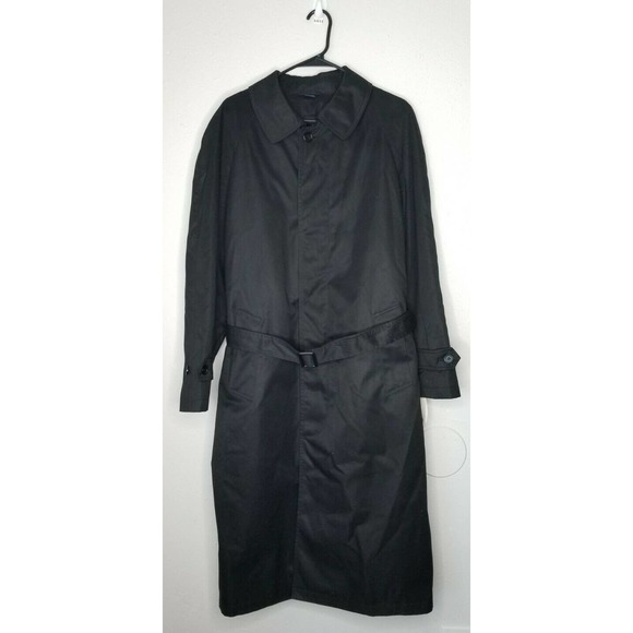 Stafford Men Raincoat Trench Coat Black 40 Reg